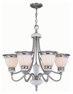 Lite Source LS18426PSFRO Carter Polished Steel 6 Lamp 25 Inch Diameter Transitional Chandelier Light Fixture