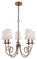Lite Source LS19815 Erika Copper 5 Lamp Transitional Chandelier Lamp - 22 Inch Diameter