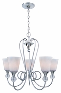 Lite Source LS19835 Holly Transitional 25 Inch Diameter 5 Light Chandelier