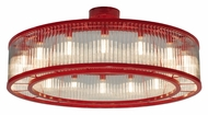 Meyda Tiffany 132858 Marquee Ruby Red 48 Inch Diameter Transitional 16 Light Chandelier