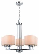 Lite Source LS19165 Darra 22 Inch Tall 5 Lamp Transitional Chrome Hanging Chandelier