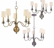 Hudson Valley 8215 Cohasset 22 Inch Tall 5 Light Small Chandelier - Transitional