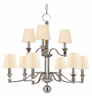 Hudson Valley 1419 Charlotte Large 2 Tier 34 Inch Diameter Transitional Chandelier