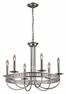 ELK 10231/6 Braxton Polished Chrome 29 Inch Diameter Candle Chandelier