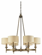 ELK 10263/6 Pembroke Antique Brass Finish 31 Inch Wide Chandelier With Shades