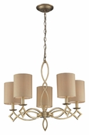 ELK 31127/5 Estonia Transitional 5 Lamp Aged Silver Chandelier With Shades