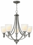 Hinkley 4025AN Truman Medium Nickel 26.5 Inch Tall 5 Light Chandelier