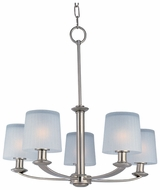 Maxim 21505FTSN Finesse 5-light Large Satin Nickel Chandelier Light