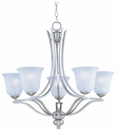 Maxim 10175ICSS Madera Satin Silver Medium 5 Light Chandelier