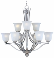 Maxim 10177ICSS Madera Large 9-light Satin Silver Chandelier Lighting