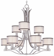 Maxim 23036SWSN Orion Large 9-lamp Modern Chandelier Lighting