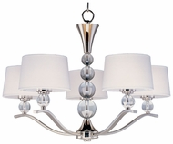 Maxim 12755WTPN Rondo Small 5-light Chandelier with Shades