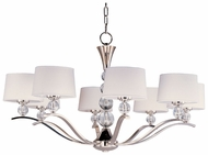 Maxim 12758WTPN Rondo Large 8-lamp Modern Chandelier with Crystal Accents