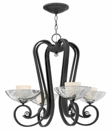 Fredrick Ramond 40604BKS Muse Small 4-lamp Candle Chandelier