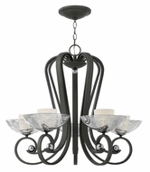 Fredrick Ramond 40605BKS Muse Medium 5-light Dining Chandelier