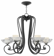 Fredrick Ramond 40606BKS Muse 6-light Large Chandelier