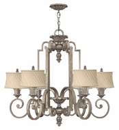 Fredrick Ramond 42726SLF Kingsley Medium 6-light Chandelier Lamp