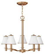 Fredrick Ramond 43605BCA Coco Small 5-light Brushed Cashmere Modern Chandelier