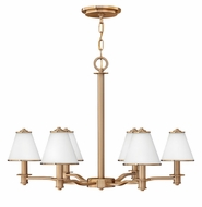 Fredrick Ramond 43606BCA Coco 6-light Medium Chandelier with Shades