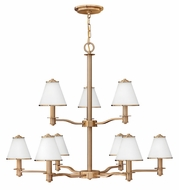 Fredrick Ramond 43608BCA Coco Large 9-lamp Chandelier Lighting