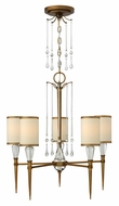 Fredrick Ramond 44505BBZ Bentley Small 5-light Crystal Chandelier with Shades