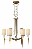 Fredrick Ramond 44506BBZ Bentley Medium 6-light Bronze Chandelier Lamp with Crystal