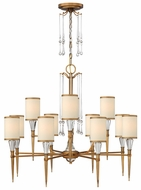 Fredrick Ramond 44508BBZ Bentley 12-lamp Large Bronze Crystal Chandelier