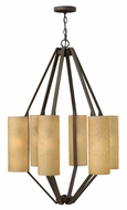 Fredrick Ramond 46844VBZ Alden Tall Glass 6-light Modern Chandelier