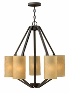 Fredrick Ramond 46845VBZ Alden Modern Medium 5 Light Chandelier with Shades