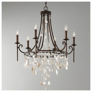Feiss F26606HTBZ Cascade 6-light Chandelier Light