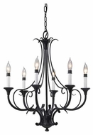 Feiss F25336BK Peyton 6-Light Candle Chandelier