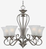 Quoizel DH5005AN Duchess 5-Light Uplight Chandelier in Antique Nickel