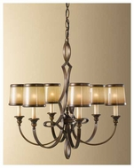 Feiss for Less F25296ASTB Justine 6-Light Chandelier
