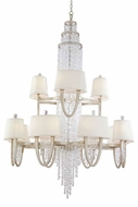 Corbett 106024 Viceroy 24-Lamp Crystal Chandelier in Antique Silver