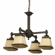 AFX CHP413RBSCT Chesterfield Fluorescent 4-Light Chandelier