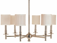 Hudson Valley 306 Palmer Six Light Chandelier in Polished Nickel Finish