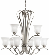 Kichler 2086NI Wedgeport Brushed Nickel 9-Light, 2-Tier Chandelier
