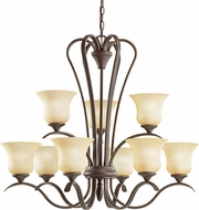 Kichler 2086OZ Wedgeport Olde Bronze 9-Light, 2-Tier Chandelier