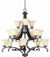 Maxim 21067FLRB Oak Harbor 15 Light Chandelier