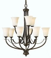 Feiss F2253-6-3 Barrington 2 Tier 9 Light Chandelier