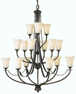 Feiss F2254-6-6-3 Barrington 3 Tier 15 Light Chandelier