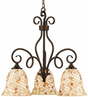Quoizel MY5103ML Monterey Mosaic 3-Light Mini Chandelier