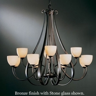 Hubbardton Forge 19-214812hg Sweeping Taper 12-Light Chandelier