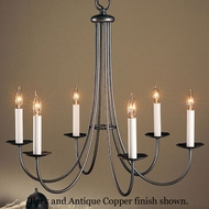 Hubbardton Forge 10-1160 Simple Sweep 6-Light Candelabra Chandelier