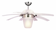 Monte Carlo Fans 8ATR44BSD-L Airlift 44 Inch Wide Halogen Downlight 8 Blade White Contemporary Opening Chandelier