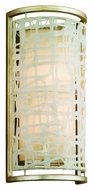 Corbett 131-12 Kyoto Large Contemporary 16 Inch Tall Silver Leaf Lamp Sconce