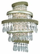 Corbett 132-12 Diva 16 Inch Tall Crystal Lighting Sconce - Silver Leaf