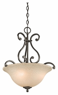 Kichler 43227OZ Camerena Traditional Olde Bronze Inverted Pendant Light - 18 Inch Diameter