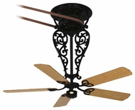 Fanimation Fans FP580BL18L1 Bourbon Street Tall Ceiling Fan in Black