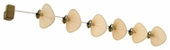 Fanimation Fans FP780ABP16 Punkah 6-Blade Linear Ceiling Fan in Antique Brass